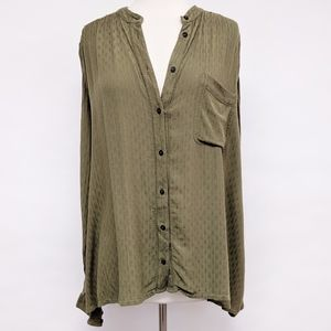 Free People Tops - free people | knit crochet button down shirt sz L